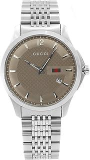 294a2bdb82 Gucci para hombre G-Timeless YA126310 cuarzo dial de plata banda marrón