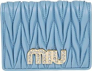 Luxury Fashion   Miu Miu Womens 5MV2042BSQF0637 Light Blue Wallet   Spring Summer 20