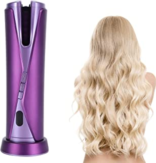 Hair Curler,Cordless Hair Curler,USB Charging Automatic Rotating Hair Curler,Portable Electric Wand Curling Iron,for Women...