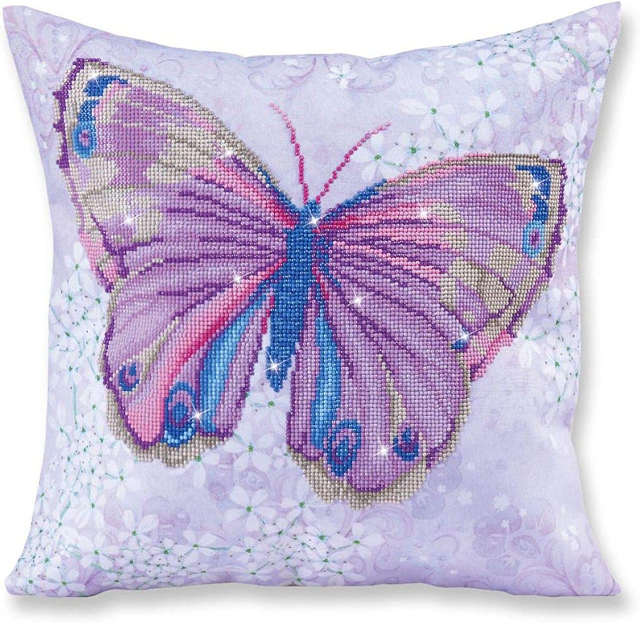 Diamond Dotz Purple Butterfly Pillow 5D Diamond Painting Facet Art Kit