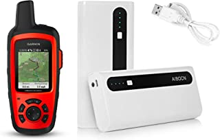 Garmin inReach Explorer+ Handheld Satellite Communicator with GPS Navigation, Maps, and Sensors 010-01735-10 and Aibocn 10,000mAh Portable Battery Charger Bundle