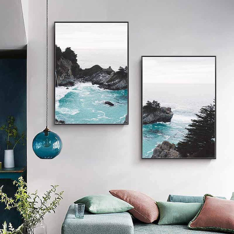 Canvas Painting Dedication Ocean Beach Landscape Popular standard Art Wall Seascape P Nature