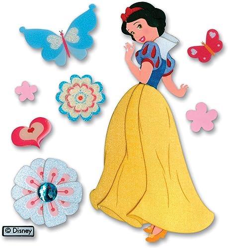 liquidación hasta el 70% Jolees Disney Disney Disney Dimensional Stickers, Nieve blanco con Mariposas  mejor reputación