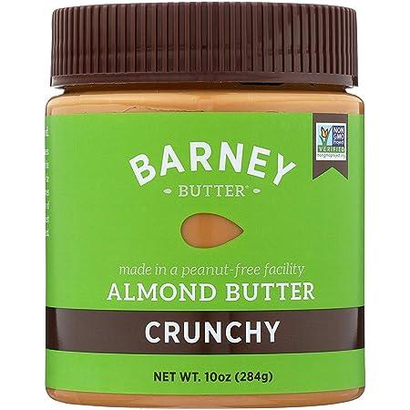 BARNEY Almond Butter, Crunchy, No Stir, Non-GMO, Skin-Free, Paleo Friendly, KETO, 10 Ounce
