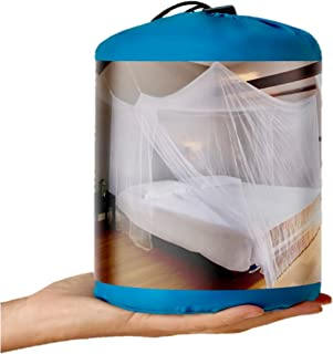 EVEN NATURALS Luxury Mosquito Net for Bed Canopy, XL Tent for Double to King, Camping Screen House, Finest Holes: Mesh 380, Square Netting Curtain, Easy to Install, Hanging Kit, Storage Bag