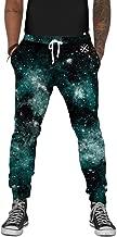 INTO THE AM Men's Fleece Joggers - Premium Galaxy Print Sweat Pants