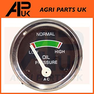 APUK Oil Pressure Gauge Old Smith Style compatible with Massey Ferguson 25 825 835 1200 FE35 Tractors