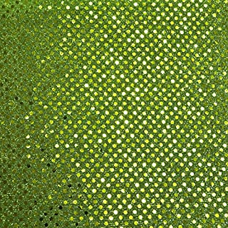 Lime Small Dot Confetti Sequin Fabric 45 inches wide sold by the yard