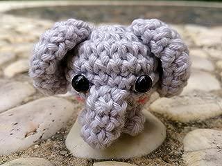 SSJSHOP Elephant Miniature Figurines Amigurumi Animals Crochet Soft Toy Stuffed Animals Baby, Grey