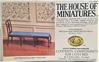 House of Miniatures Chippendale Day Bed Kit/Circa 1750 #40043