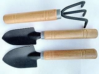 Diligent Farmer Mini Garden Tool Set, 3 Piece Hand Suit Small Shovel/Rake/