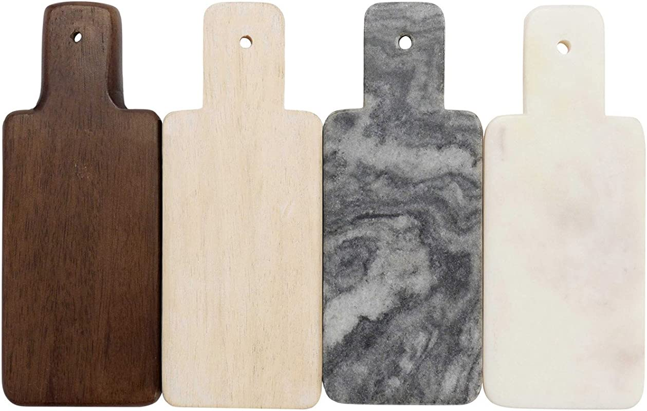 FLOOR 9 Marble And Wood Mini Boards Set Of 4