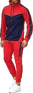 OneRedox Herren Jogginganzug Sportanzug Trainingsanzug Sweatshirt Hose Jogging Anzug Modell 1053