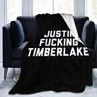 Derri Justin?Fucking?Timberlake Flannel Fleece Microfiber Throw Blanket Queen Size Lightweight Cozy Couch Bed Ultra Soft and Warm Plush Anti-Pilling 3 Size