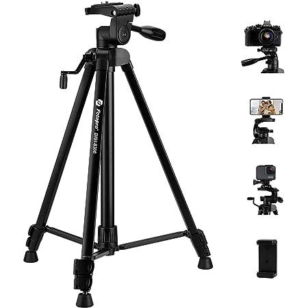 "Fotopro 59"" Camera Tripod, Aluminum Tripod for iPhone, Phone Tripods, Portable Tripod, Camera Stand for DSLR Camera Samsung Huawei iPhone"