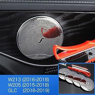 DAETNG Car Styling Zubehör Innenverkleidung, Mercedes Benz W205 W213 GlC AMG Zubehör für Mercedes GLC Benz W205 W213 Innenverkleidung Tür Audio Lautsprecherabdeckung,Gloss