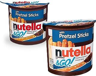 Nutella Hazelnut Spread & Pretzels Sticks &Go! - Pack of 2 Pouch, 2 x 54 g