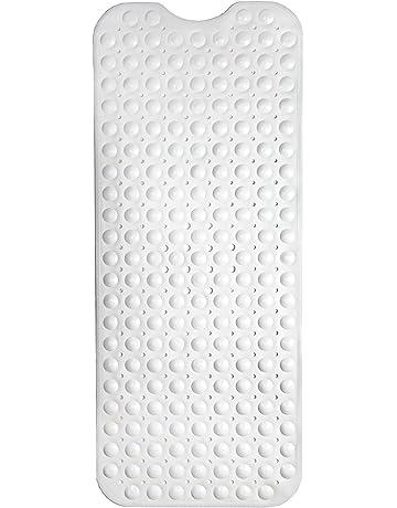con ventose e fori di scarico Eighty colore blu lavabile in lavatrice elegante resistente tappetino da doccia tappetino da doccia rotondo per vasca da bagno tappetino antiscivolo per bagno
