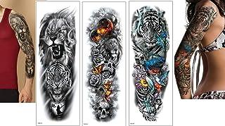 Löwen Tattoo Tiger Tattoo Vollen Arm Tattoo Länge 45 cm
