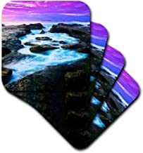 3dRose CST_184670_1 Stunning Ocean Photography with High Definition Digital Enhancement Soft Coasters, Set of 4