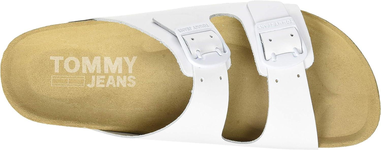 Tommy Jeans Damen Color Block Flat Geschlossene Sandalen