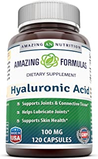 Amazing Formulas Hyaluronic Acid 100 mg 120 Capsules (Non-GMO,Gluten Free) - Support Healthy Connective Tissue and Joints...