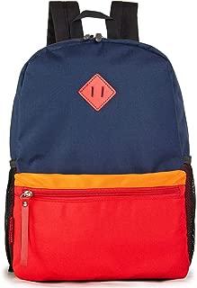 Preschool Backpack for Toddler Little Kid School Bag for Boys or Girls (Navy-red)