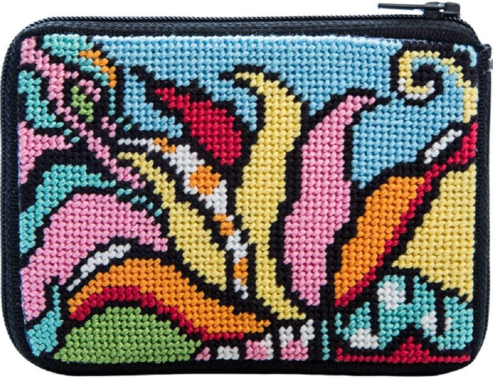 Max 68% OFF Alice Peterson Stitch Zip Coin Card Case Popular shop is the lowest price challenge Credit Needlepoint Ki