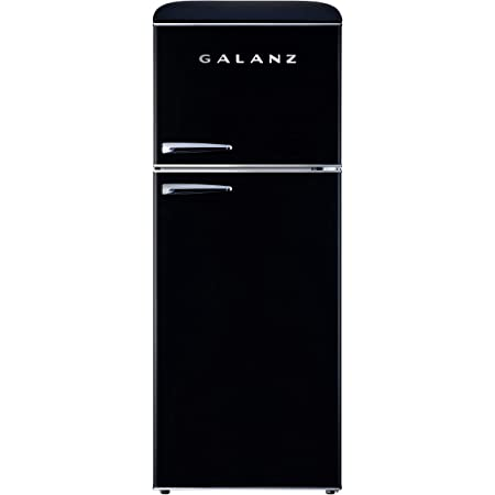 Galanz GLR10TBKEFR Retro Refrigerator, 10.0 Cu Ft, Black