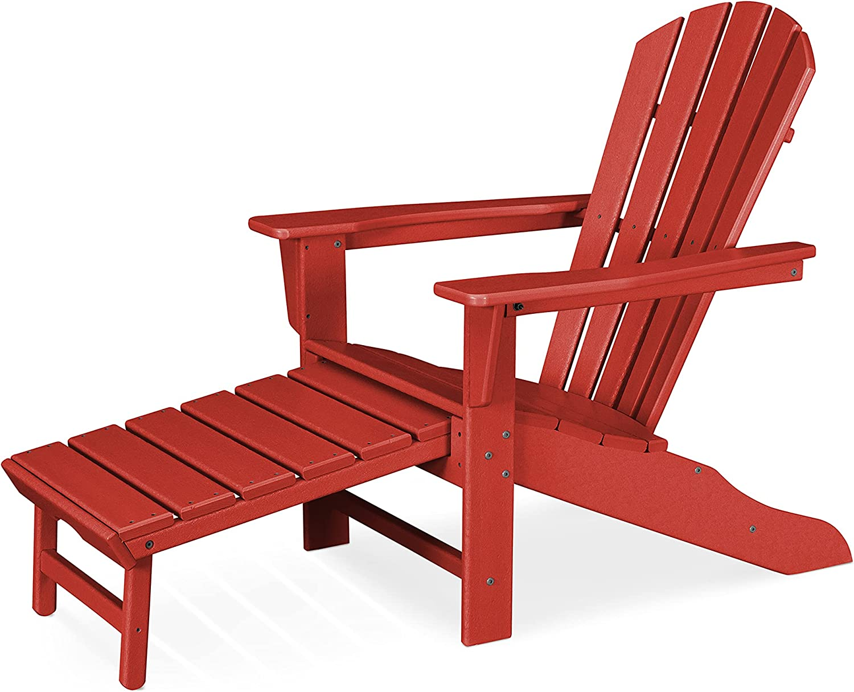 Polywood New Free Shipping HNA15SR Palm shop Coast Adirondack Red Sunset Chair
