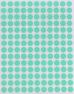Royal Green Color Round Labels Pastel Green 10mm - Circular dot Stickers 0.375 inch - 2100 Pack