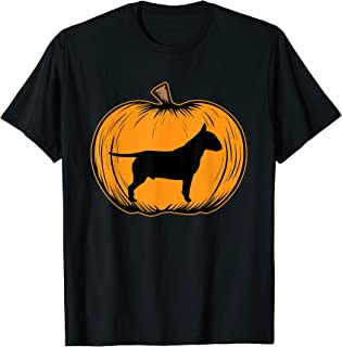 Halloween Pumpkin Bull Terrier Dog-Dog Halloween Costume  T-Shirt