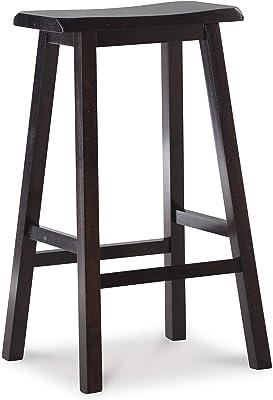 Amazon Com Winsome Satori Stool 29 Black Furniture Decor