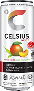 Celsius Peach Mango Green Tea Flavour Non-carbonated Fitness Drink,