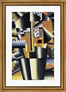Selfportrait ''The Artist'', 1933 by Kazimir Malevich Framed Art Print Wall Picture, Wide Gold Frame, 23 x 32 inches
