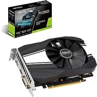 بطاقة رسومات ASUS GeForce GTX 1660 فائقة لكسر سرعة 6 جيجابايت Phoenix Fan Edition HDMI DP DVI (PH-GTX1660-O6G)