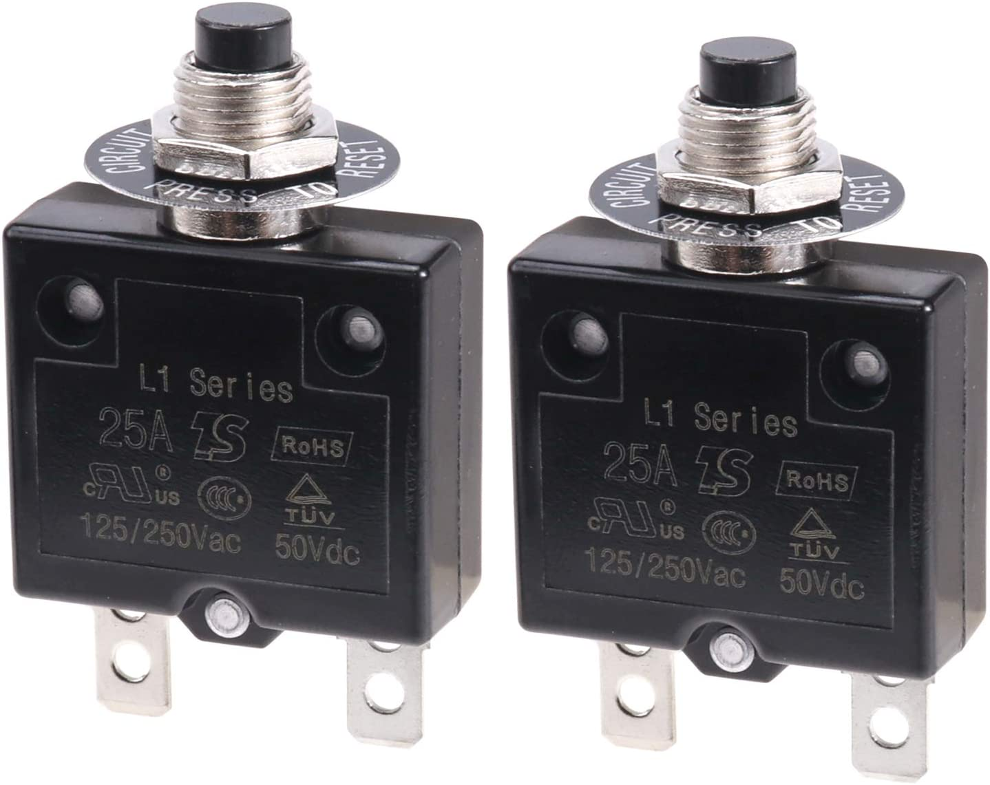 Thermal Overload Protector L1 Series 125-250V AC 50V DC Push ...
