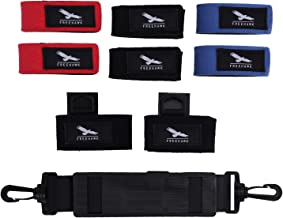 Freehawk Fishing Rod Straps Belt Fishing Tackle Ties and Adjustable Fishing Shoulder Strap Belt Fishing Rod Carry Strap Travel Tackle Shoulder Belt