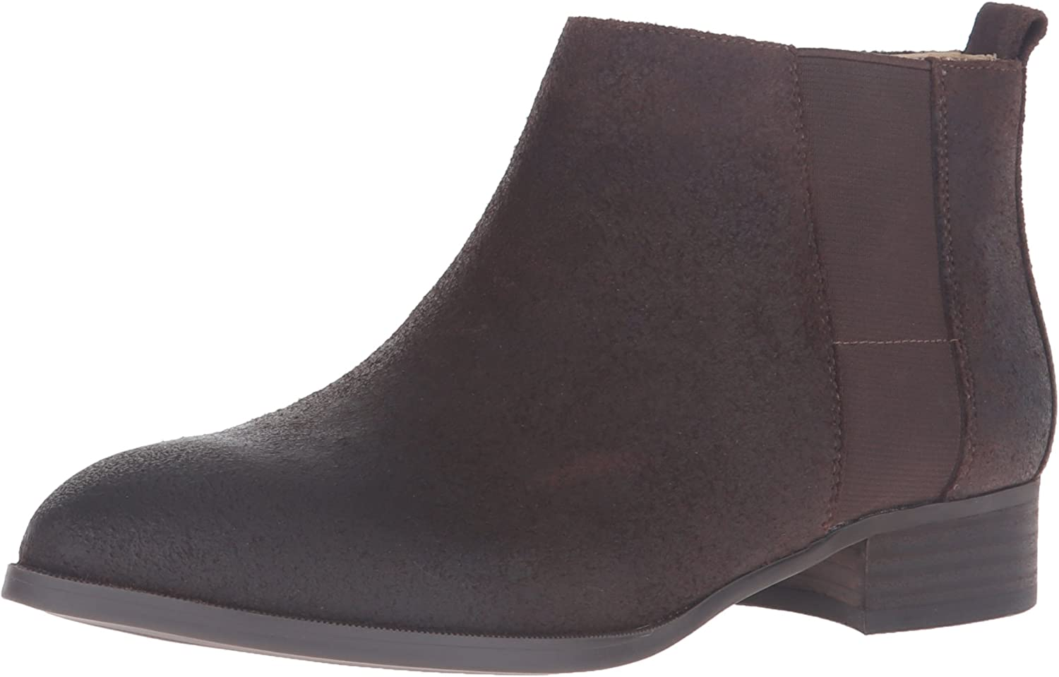 Nine West Womens Nolynn Leather Ankle Bootie