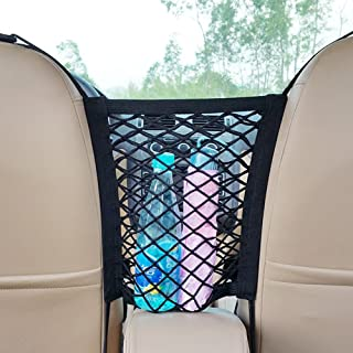 Laofiney 2-Layer Universal Car Seat Storage Mesh/Organizer-Mesh Cargo Net,Backseat Barrier for Pets & Kids Children,Phone ...