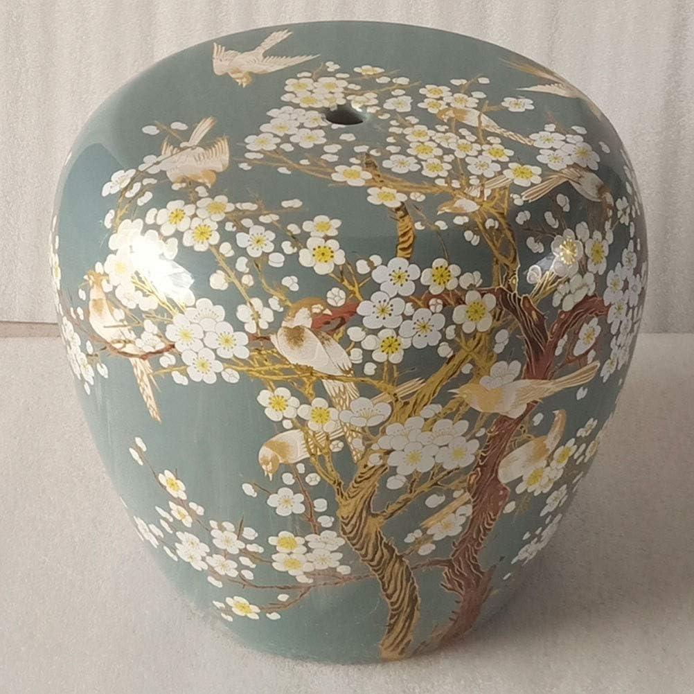 Over item handling ☆ Shoes Stool Bird Pattern Porcelain Jingdezhen Ceram Max 88% OFF Garden