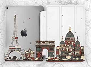 Red Creative France Paris Architecture Case For Apple iPad Mini 1 2 3 4 5 iPad Air 2 3 iPad Pro 9.7 10.5 11 12.9 inch iPad 9.7 inch 2017 2018 2019