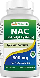 Best Naturals NAC - N Acetyl Cysteine 600 mg 250 Capsules - n Acetyl cysteine - Powerful antioxidant
