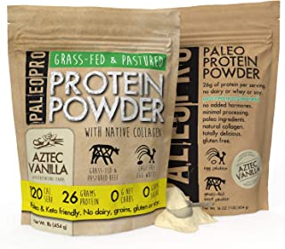 PaleoPro Protein Powder, Gluten Free, Dairy Free, Whey Free, Soy Free, No Added Hormones, Pastured Grass-fed Beef, Minimal...