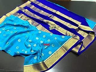 Fashion Vibes Kanchi Style Pure Mysore Crepe Silk Saree