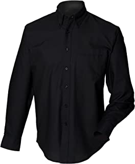 Henbury Mens Long Sleeve Classic Oxford Work Shirt