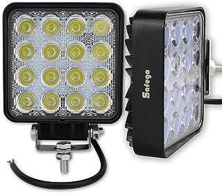 Safego 2 x 4.25inch LED Arbeitslicht 48W LED Scheinwerfer Auto Arbeitsscheinwerfer bar Offroad Zusatzscheinwerfer (30 Grad) 48W Spotlight Reflektor Car LED Work Light Auto Arbeitsleuchte 12V 24V