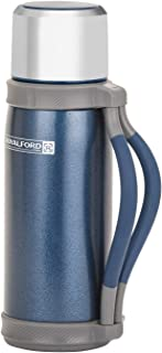 Royalford 1200ml Thermo Vacuum Flask – Double Wall, Stainless Steel, Hot & Cool, Vacuum Insulation, Leak-Resistant – Prese...