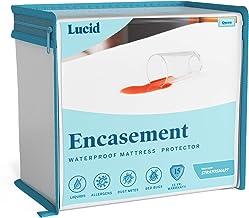 LUCID Encasement Mattress Protector - Completely Surrounds Mattress for Waterproof, Allergen Proof, Bed Bug Proof Protecti...