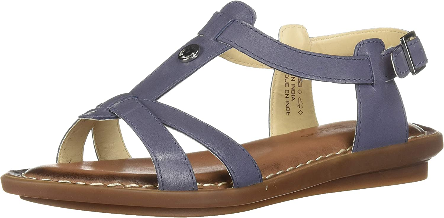 Hush Puppies Womens Olive Tstrap Buckle Strap Sandal bluee Size UK 3 EU 36